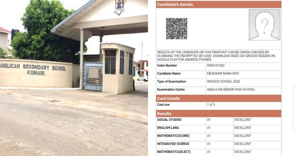 Free SHS results: Student from grade B Anglican school scores straight 8As in WASSCE