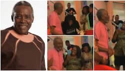 He looks so slim - Nigerians raise voices of concern as Olu Jacobs pays surprise visit to wife on movie set