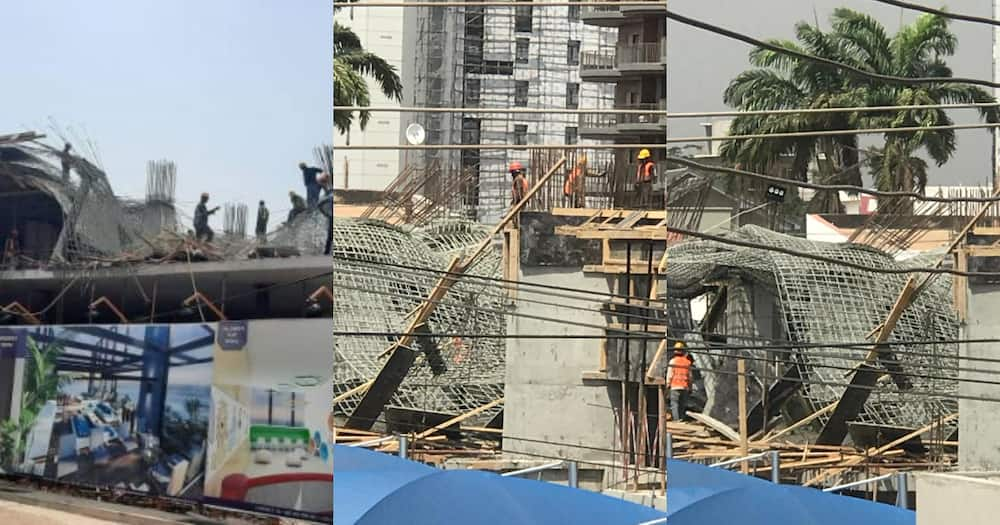 22-storey building under construction at Airport caves in; dozens of workers injured