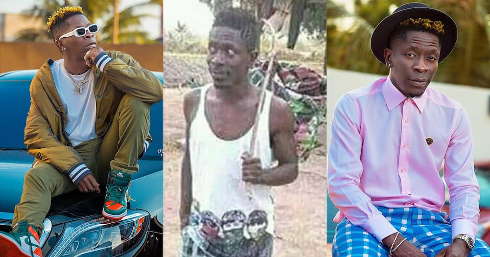 Throwback photo of Shatta Wale hustling before fame inspires fans