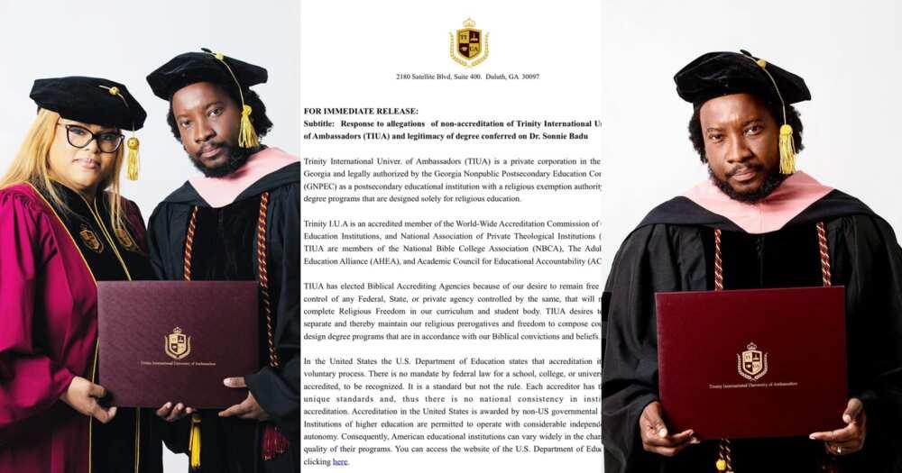 Sonnie Badu: Trinity University Clears Air On Singer's 'Four Months' Degrees