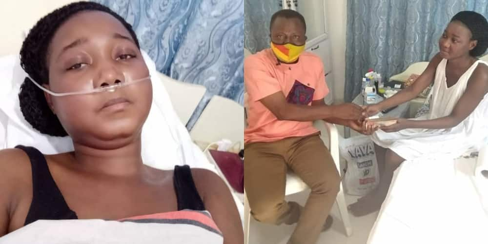 Beautiful lady who gave up on life support for lack of money gets saved by donations from Ghanaians