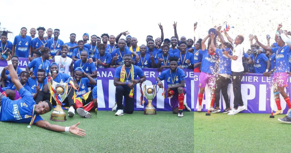Glorious Coronation: Beautiful photos drop as Hearts of Oak are crowned champions