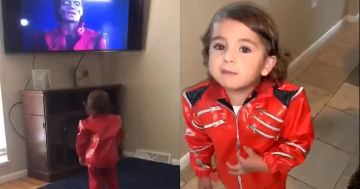 Adorable video of toddler pretending to be late Michael Jackson goes viral