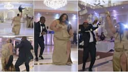 Lady 'scatters' wedding, removes her wig as she dances and shoots dollars in the air; video goes viral