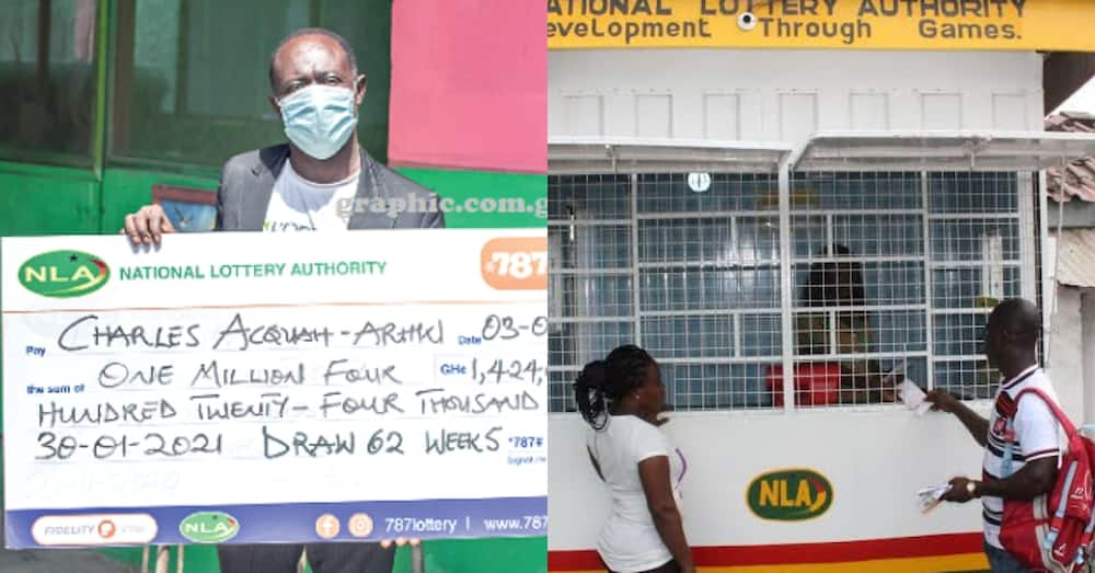 Charles Acquaah-Arhin: Graphic marketer wins GHc 1.42 million in NLA lottery