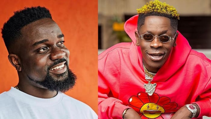 Shatta Wale shows love to Sarkodie; rallies support for rapper's upcoming album