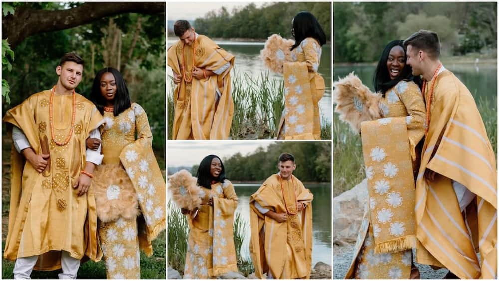 'Nigerian' Lady Marries Her Oyinbo Lover in Beautiful Wedding Ceremony, Their Photos Stirs Massive Reactions