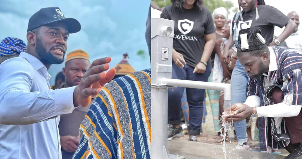 Anthony Dzamefe: CEO of Caveman Watches Builds Borehole Worth GHc 20k for Upper West