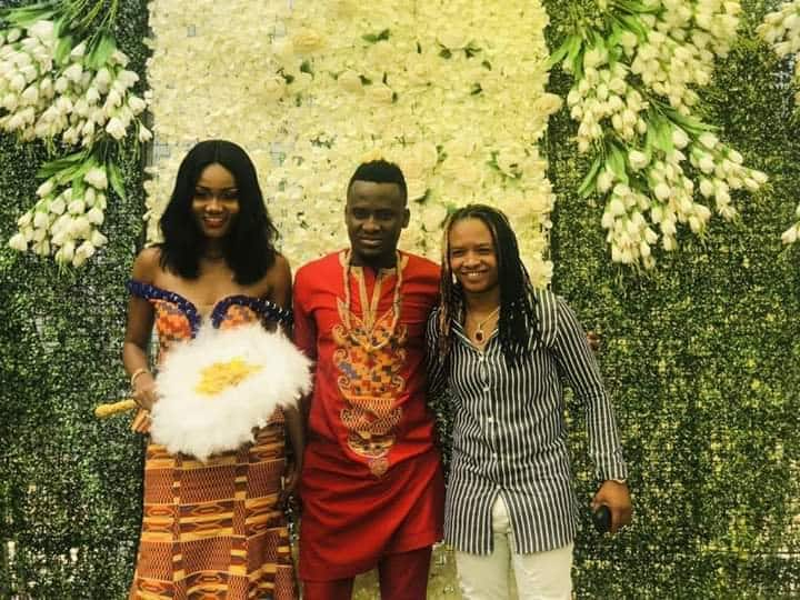 Amazing photos pop up as Ghana internationals David Accam and Florence Dadson get married