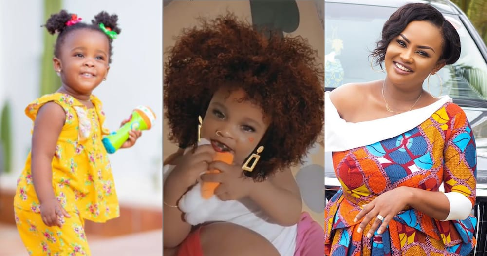 Baby Maxin: Nana Ama McBrown's Daughter wear wig; Replies her Mother's Comment