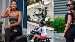 MzVee shows impressive riding skills as she flaunts expensive trike in new video