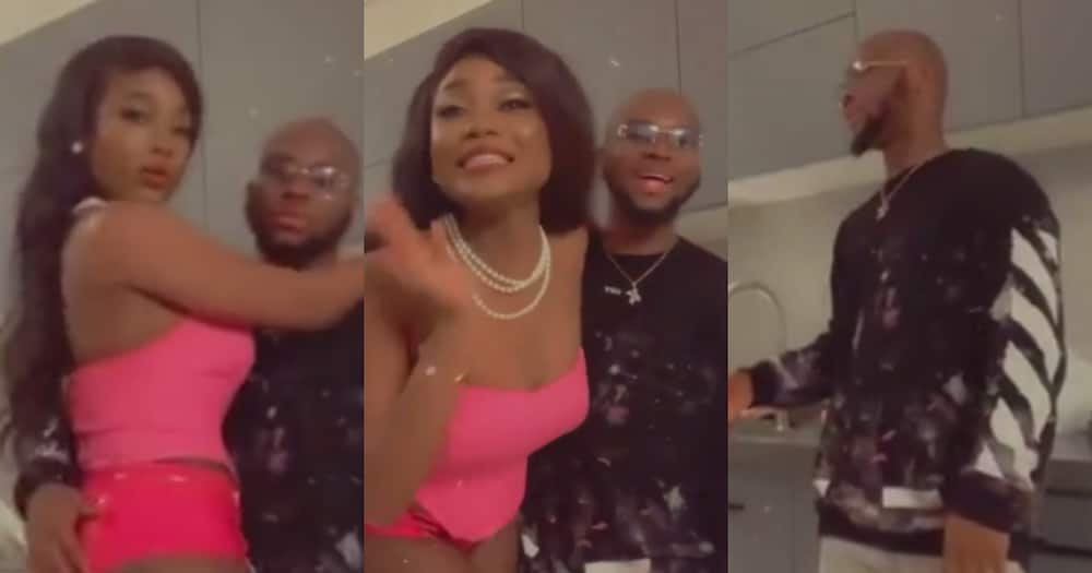 Efya flaunts her raw backside as she jams with King Promise to Slow Down in bedroom video