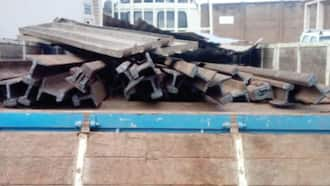 Marine Police intercept truckload of stolen rail lines in Western Region; driver, owner of consignment absconded
