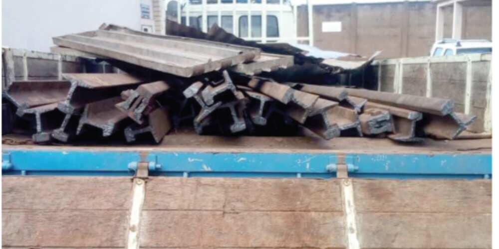 Marine Police intercept truckload of stolen rail lines in Western Region