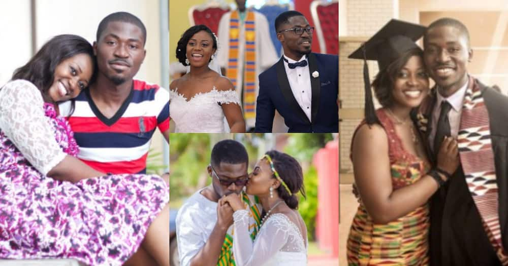 We met on the first day - Ghanaian man who met wife on campus reveals how they met