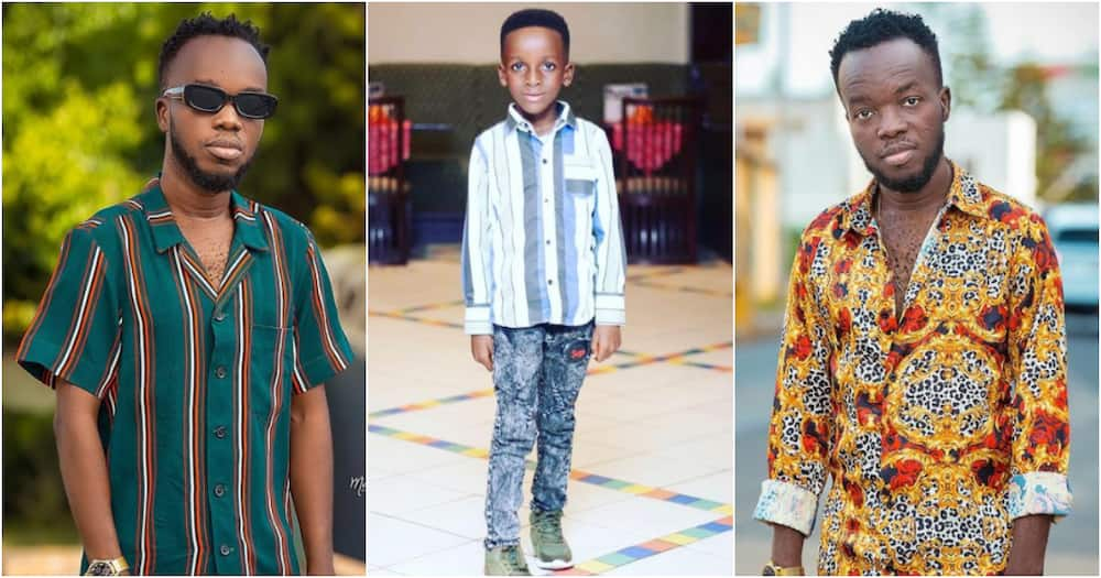 Akwaboah Jnr drops beautiful photo of his all-grown first son to mark his new age