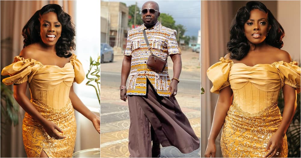 Nana Aba Anamoah's Baby Daddy Osebo Celebrates Her Birthday With Lovely Photo & Message