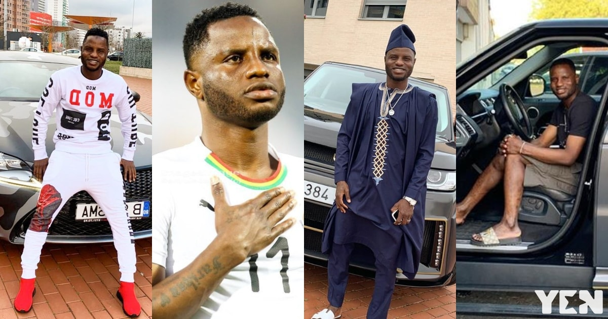 A look into Black Stars player Mubarak Wakaso's powerful mansion and cars