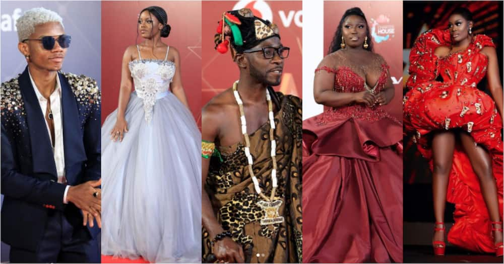 VGMA22: 10 photos of best dressed moments by Ghanaian celebrities on the red carpet