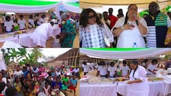 Beautiful photos and video drop as Vivian Jill holds 37th birthday party with the people of Tweapease village