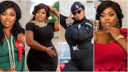 Thick and curvy Ghanaian policewoman breaks the internet with beautiful birthday photos