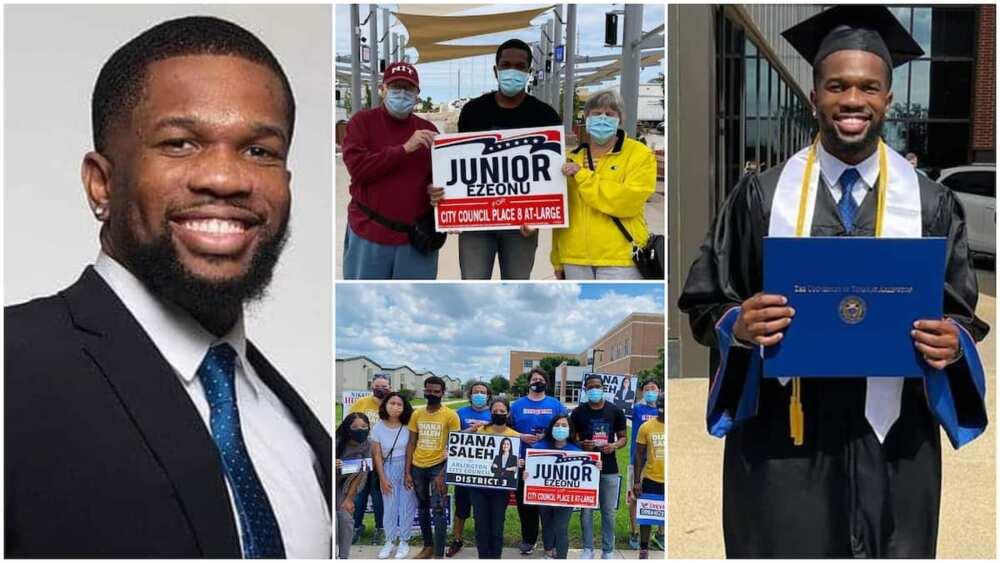 Nigerian man Ezeonu wins council election in US, many celebrate him