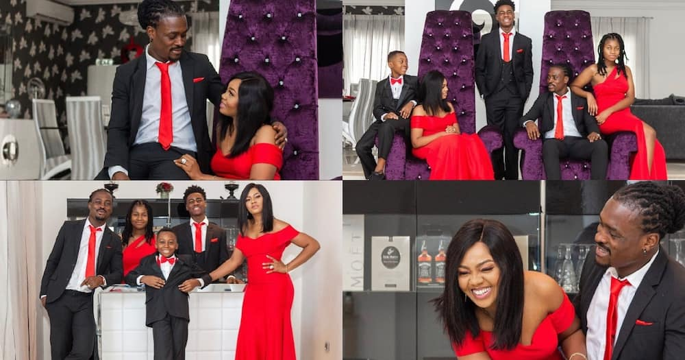 Derek Boateng drops 19 cute photos as he shows off his family on 18th anniversary