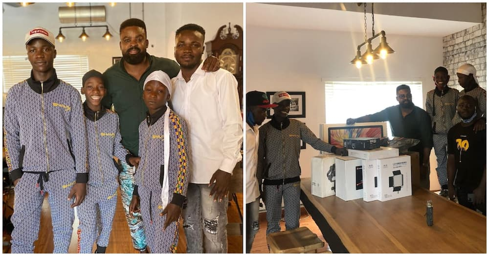 Netflix gifts Ikorodu Bois production gadgets to upgrade their movie-making skills, see photos