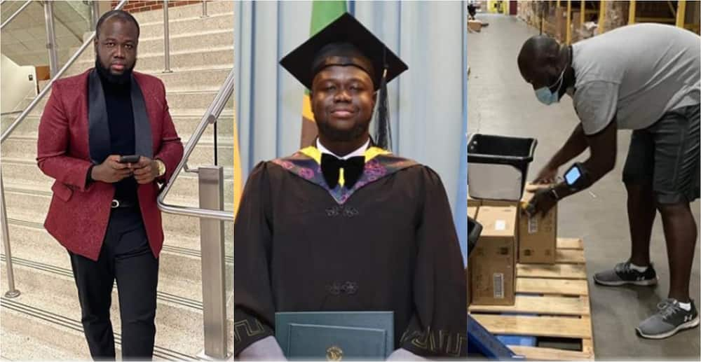 Nii Sackey: Ghanaian man who worked as Uber driver to earn master's graduates with 3.72 GPA