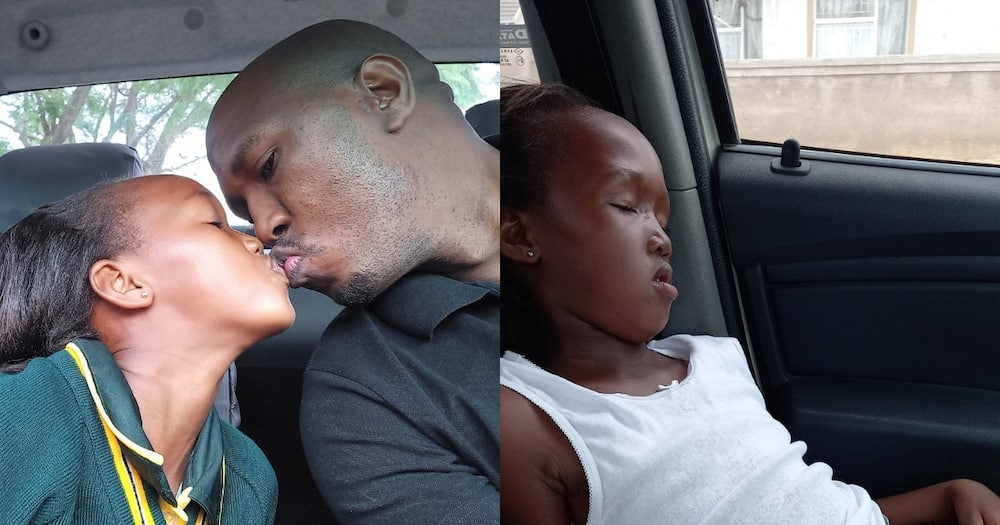 SA in Stitches After Dad Posts Daughter's Before and After School Pics
