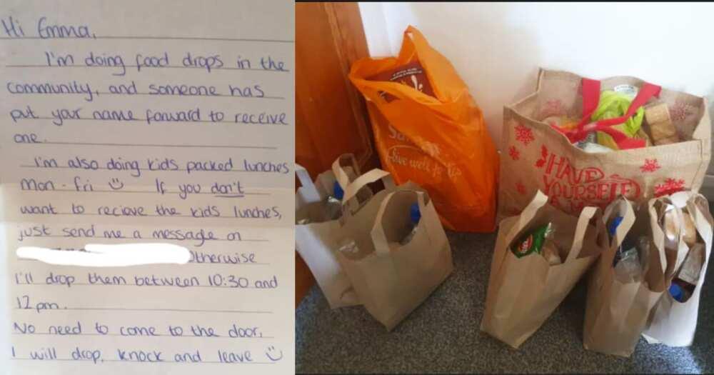 Mom of 5 In Tears After Stranger Leaves Food At Doorstep For Her Starving Kids