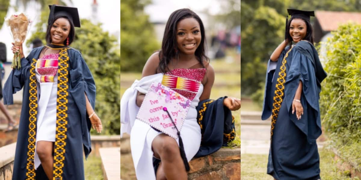 PHOTOS: Brilliant lady celebrated after she grabbed degree in Business Administration