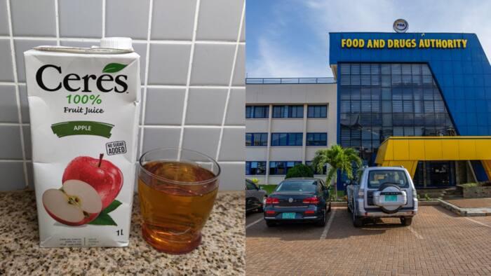 FDA recalls batches of Ceres Apple Juice over excessive chemical content