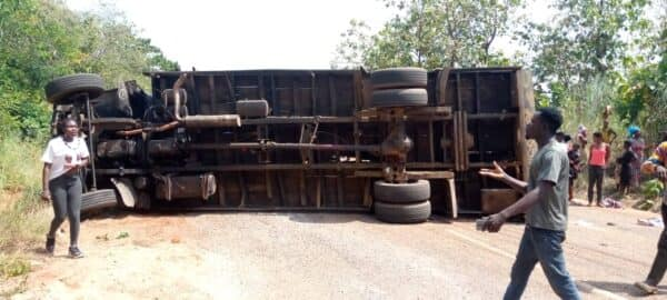 Timber truck crashes two mourners to death in Eastern Region