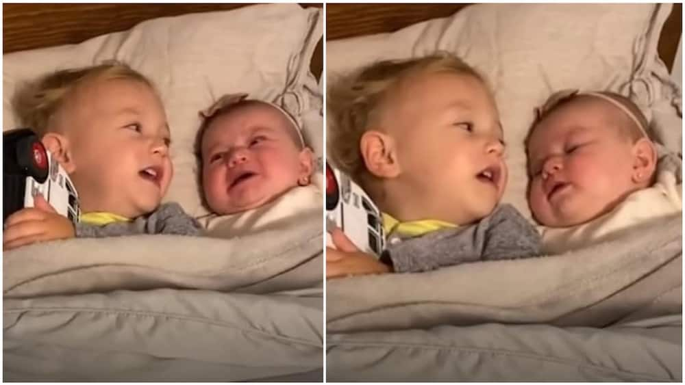 The brother asked his sibling to take a deep breath. Photo source: YouTube/Good Morning America