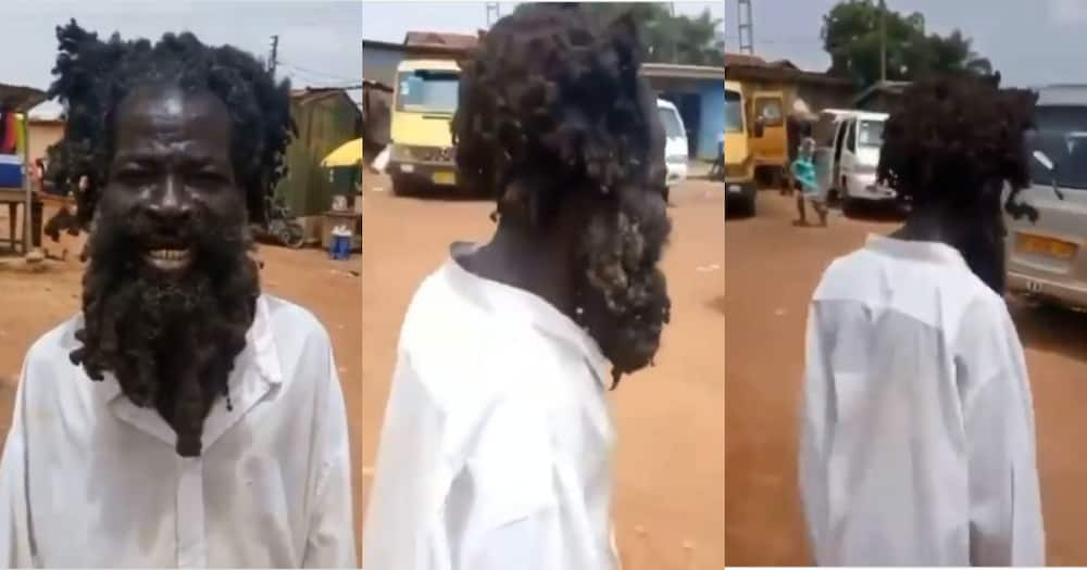 Mo na mo Bl3: Mentally challenged man demands 200 cedis before Interview in Video