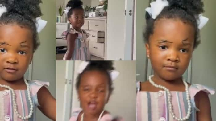 Impossible - Little girl screams in video after finally seeing her own makeup in mirror