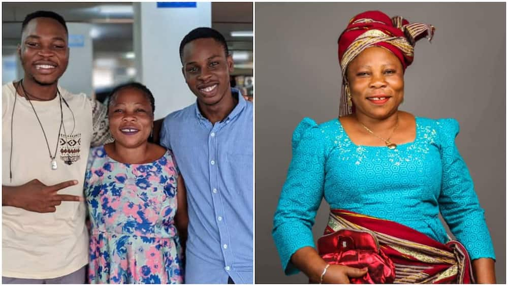 Woman who sold yogurt in Lagos to train her children fianlly smile, one of her sons now work with Google