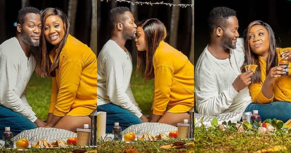 Adjetey Anang and wife confuse fans as they marked 14th marriage anniversary with poolside photos