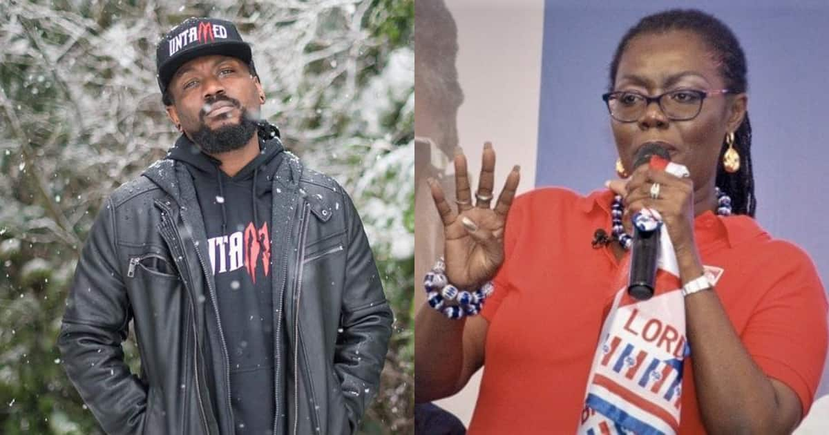 Ursula Owusu joins Samini on stage to perform at party event; Ghanaians say NPP will still lose