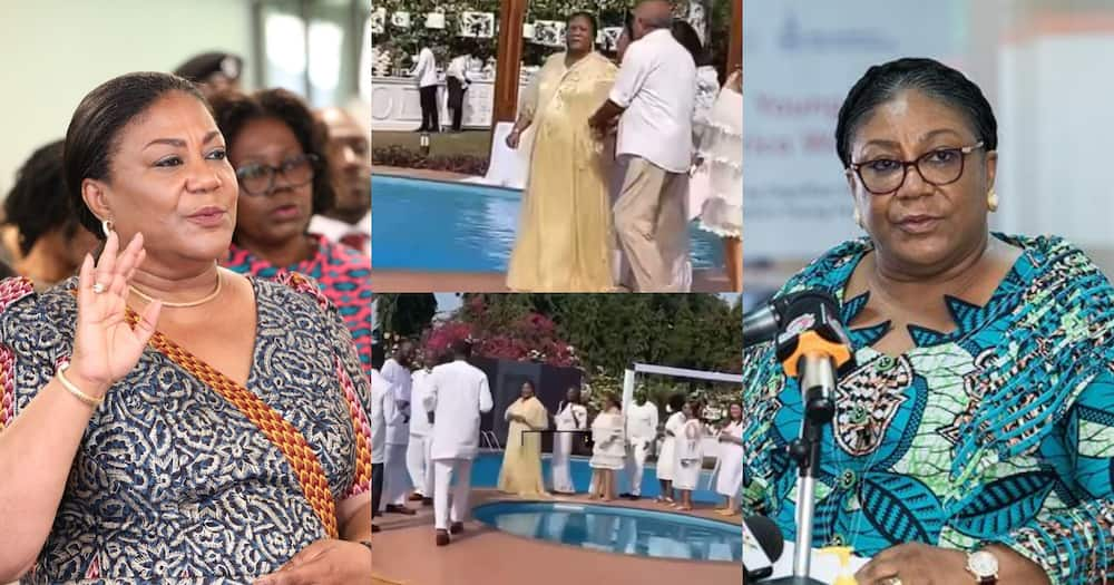 Akufo-Addo's Wife Rebecca Celebrates 70th Birthday With A Poolside Party; Video Drops