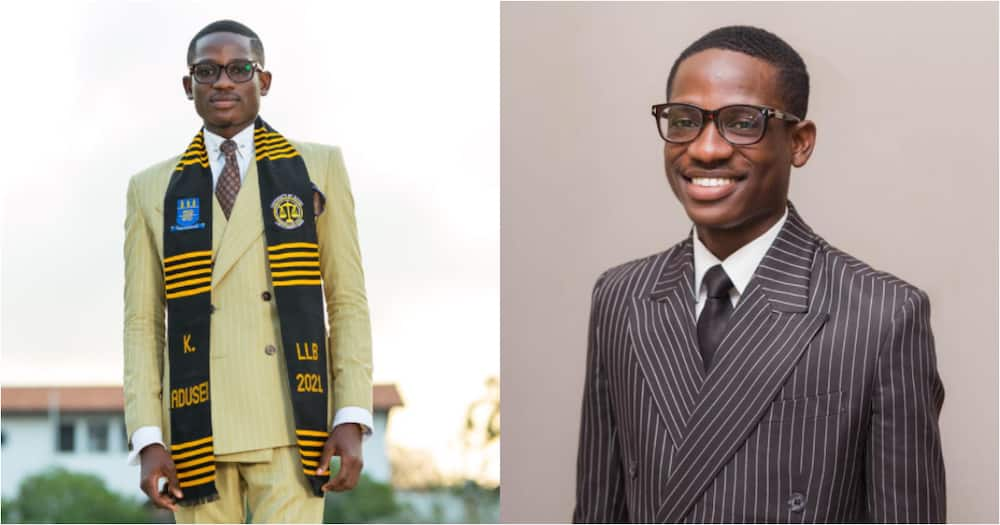 I feel incredibly lucky - Ghanaian student says as he graduates with first class degree in law from Legon