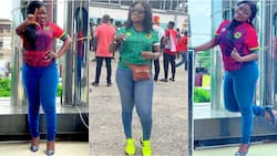 Peace FM and UTV's Vim Lady hospitalised over Hearts-Kotoko match; photo of her in sick bed drops