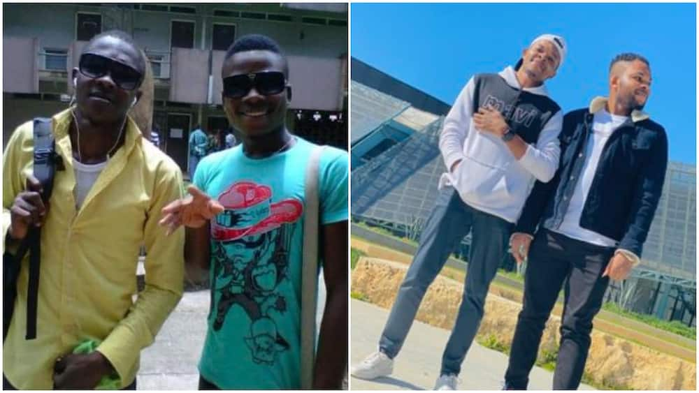 Two friends who were black in Nigeria years ago turn light skinned in Germany, many say abroad weather is good