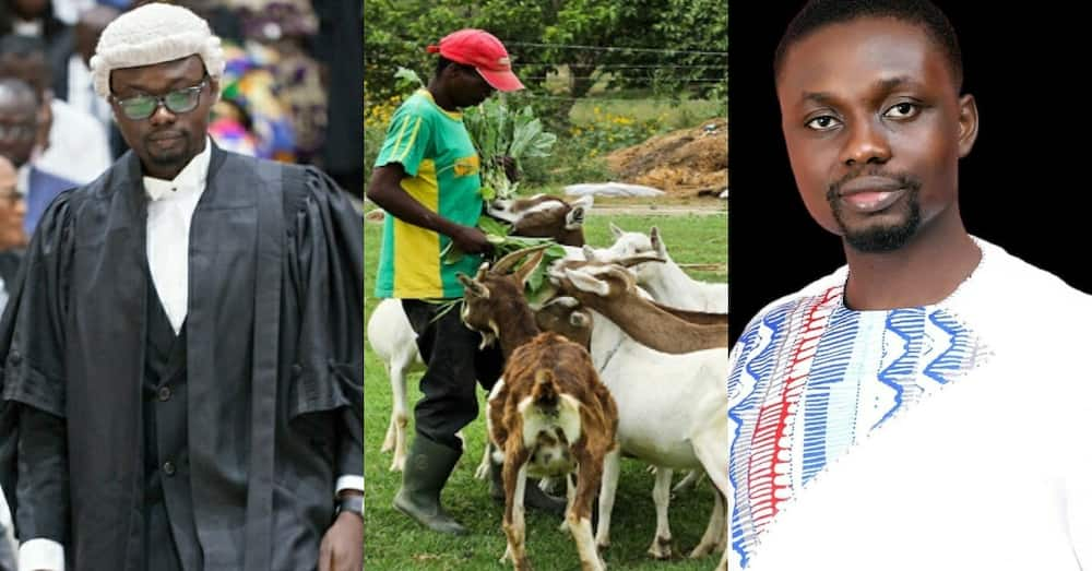 Ghanaian former goat rearer develops 3 different professions; narrates his story