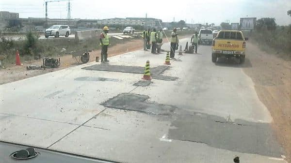Patching of Tema Motorway begins