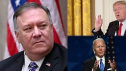 US election: Secretary of State Mike Pompeo says Trump won't hand over power to Biden