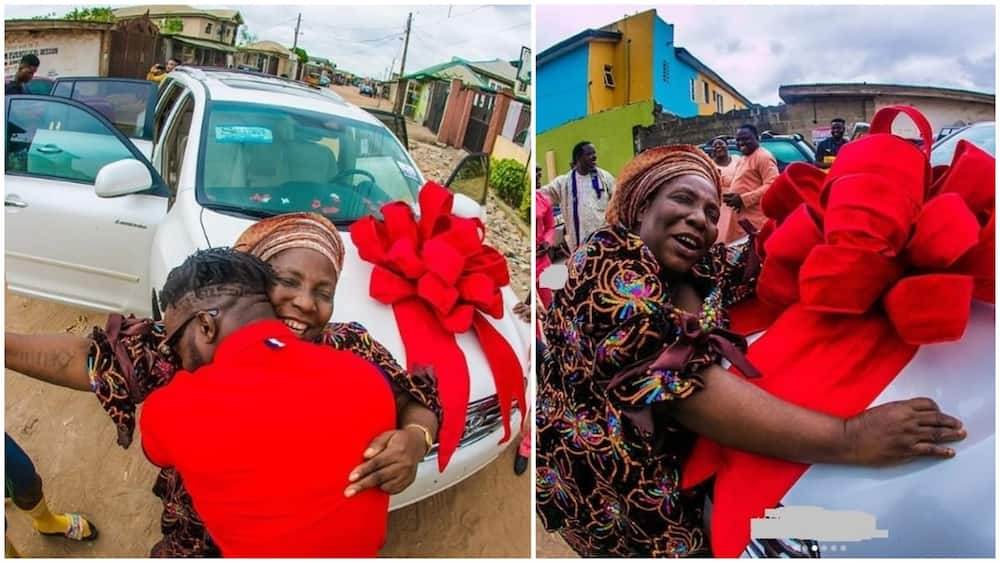 DJ Kaywise Buys His Mum A New Car As A Post-Birthday Gift (Photos)