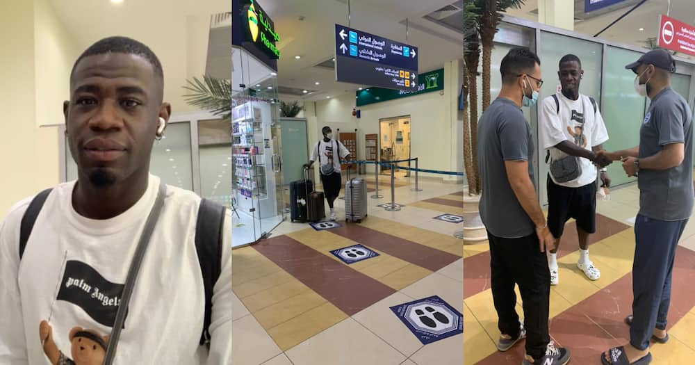 Afriyie Acquah lands in Saudi Arabia to begin Al Batin career; photos drop